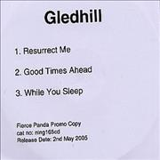 Click here for more info about 'Gledhill - Resurrect Me'