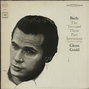 Glenn Gould Bach: The Two And Three Part Inventions USA vinyl LP