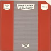 Click here for more info about 'Gloria D. Brown - The More They Knock The More I Love You'