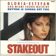 Click here for more info about 'Gloria Estefan - Rhythm Is Gonna Get You - Stakeout picture sleeve'