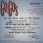 Click here for more info about 'Go-Go's - Apology'