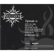 Click here for more info about 'Godsmack - Speak'