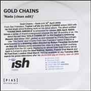 Click here for more info about 'Gold Chains - Nada - Clean Edit'