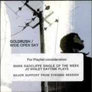 Goldrush Wide Open Sky UK CD single Promo