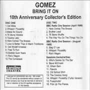 Click here for more info about 'Gomez - Bring It On - 10th Anniversary Collector's Edition'