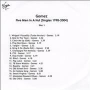 Click here for more info about 'Gomez - Five Men In A Hut'