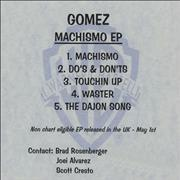 Click here for more info about 'Gomez - Machismo EP'