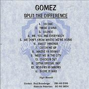 Click here for more info about 'Gomez - Split The Difference'