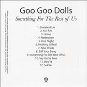 Click here for more info about 'Goo Goo Dolls - Something For The Rest Of Us'