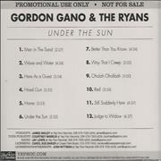 Click here for more info about 'Gordon Gano - Under The Sun'