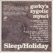 Click here for more info about 'Gorky's Zygotic Mynci - Sleep / Holiday'