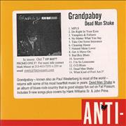 Click here for more info about 'Grandpaboy - Dead Man Shake'