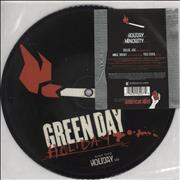 """Green Day Holiday UK 7"""" picture disc"""