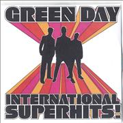 Green Day International Superhits - 21-tracks/Picture insert UK CD-R acetate Promo