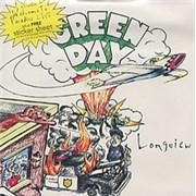 "Green Day Longview + Sticker Sheet UK 7"" vinyl"