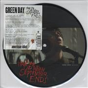 """Green Day Wake Me Up When September Ends UK 7"""" picture disc"""