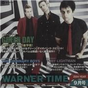 Green Day Warner Time Japan CD album Promo