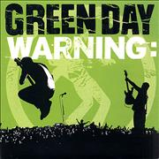 "Green Day Warning - Green vinyl UK 7"" vinyl"