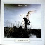 Click here for more info about 'Gregory Gray - Think Of Swans - Gold promo stamped'