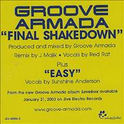 Click here for more info about 'Groove Armada - Final Shakedown'
