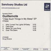 Click here for more info about 'Guillemots - I Saw Such Things In My Sleep EP'
