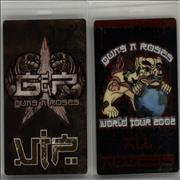 Click here for more info about 'Guns N Roses - 2002 Tour Passes - Set Of 17'