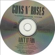Guns N Roses Ain't It Fun UK CD single Promo