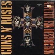 Guns N Roses Appetite For Destruction + shrink & transfer USA vinyl LP