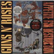 Click here for more info about 'Guns N Roses - Appetite For Destruction - 1st - Stickered'