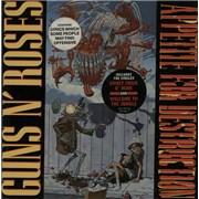Click here for more info about 'Guns N Roses - Appetite For Destruction - Dbl stick Rb Slv + stick sheet'