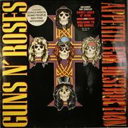 Click here for more info about 'Guns N Roses - Appetite For Destruction - 2nd - Stickered'