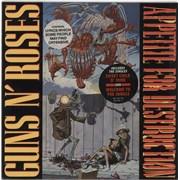 Guns N Roses Appetite For Destruction - Double Stickered Robot slv UK vinyl LP
