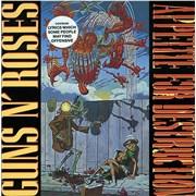 Guns N Roses Appetite For Destruction - Robot Sleeve & Cross Sticker UK vinyl LP