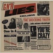 Guns N Roses G N' R Lies Canada vinyl LP