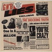 Guns N Roses GN'R Lies UK vinyl LP