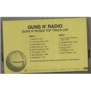 Guns N Roses Guns N' Radio - Guns N' Roses Top Track List USA cassette album Promo