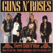 Click here for more info about 'Guns N Roses - Sweet Child O Mine + P/S'