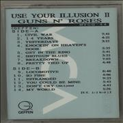 Guns N Roses Use Your Illusion II Japan cassette album Promo
