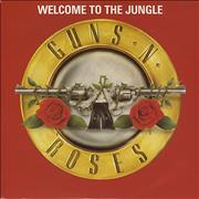 "Guns N Roses Welcome To The Jungle - Red Sleeve UK 7"" vinyl"