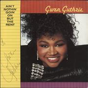 Click here for more info about 'Gwen Guthrie - Ain't Nothin' Goin' On But The Rent - Autographed'