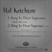 Click here for more info about 'Hal Ketchum - Hang In There Superman'