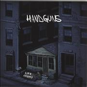 Click here for more info about 'Handguns - Life Lessons - Blue, White, Aqua striped vinyl'