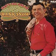 Click here for more info about 'Hank Snow - That's You And Me'