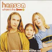 Click here for more info about 'Hanson - Where's The Love - CD2 + Poster'