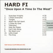 Click here for more info about 'Hard-Fi - Once Upon A Time In The West'