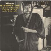 "Harry Nilsson Without You (Si No Estás Tú) Spain 7"" vinyl"