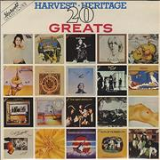 Harvest Label Harvest Heritage 20 Greats UK vinyl LP