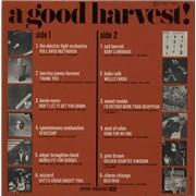 Harvest Label A Good Harvest France vinyl LP