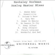 Click here for more info about 'Hawksley Workman - Analog Master Mixes'