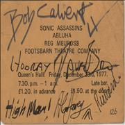 Click here for more info about 'Queen's Hall: Friday December 23rd 1977 - Autographed'